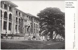 Law Courts, Sierra Leone Black & White Postcard 1917 - Sierra Leone