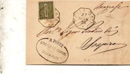 1895  LETTERA CON ANNULLO  OTTAGONALE CELLA DATI CREMONA