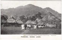 Panguma, Sierra Leone (huts & Natives)  Black & White Postcard 1917 - Sierra Leone
