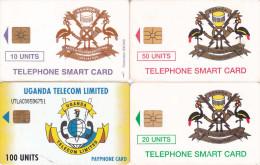 4 Télécartes OUGANDA Lot3 (bon état) - Ouganda