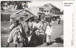 Native Sellers, Freetown Black & White Postcard 1917 - Sierra Leone