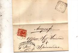 1903   LETTERA CON ANNULLO  OTTAGONALE Ca� De� MARI CREMONA