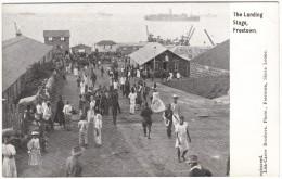 The Landing Stage, Freetown (ships, Dock)  Black & White Postcard 1917 - Sierra Leone
