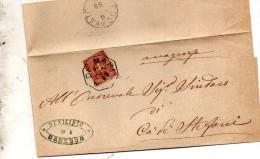 1899   LETTERA CON ANNULLO  OTTAGONALE Ca� De� MARI CREMONA