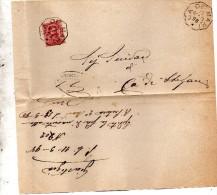 1898   LETTERA CON ANNULLO  OTTAGONALE Ca� De� MARI CREMONA