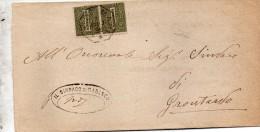 1896   LETTERA CON ANNULLO  OTTAGONALE Ca� De� MARI CREMONA
