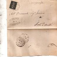 1890 LETTERA CON ANNULLO  OTTAGONALE Ca� De� MARI CREMONA