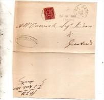 1895   LETTERA CON ANNULLO  OTTAGONALE Ca� De� MARI CREMONA