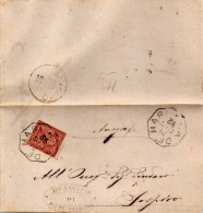 1892   LETTERA CON ANNULLO  OTTAGONALE Ca� De� MARI CREMONA