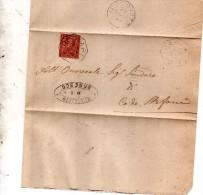 1893   LETTERA CON ANNULLO  OTTAGONALE Ca� De� MARI CREMONA
