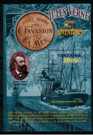 """*A1* - TANZANIA 2005 -  Personalità. Jules Verne """"l´invasione Del Mare"""" - 1 Val. In BF - MNH** - Perfetto"""