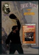 """*A1* - TANZANIA 2005 -  Personalità. Jules Verne """"letteratura"""" - 1 Val. In BF - MNH** - Perfetto"""