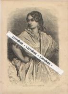 Espagne, Jeune Femme Au Marché à Valence, Valencia, Gravure Parue En 1868, TBE, Dessin De Gustave Doré - Vieux Papiers