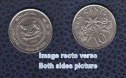 Singapour 2009 Pièce De Monnaie Coin Moeda Moneda 10 Cents De Dollar - Singapore