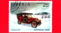 LIBERIA - USATO - 1973 - Automobili Storiche - Old Cars - Chadwick, 1907 - 25 - Liberia
