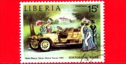 LIBERIA - USATO - 1973 - Automobili Storiche - Old Cars - Rolls Royce Silver Ghost Tourer, 1907 - 15 - Liberia