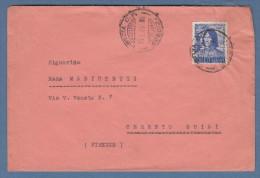 Italia 1949 - Lorenzo De Medici 20 Lire Isolato Su Lettera - 6. 1946-.. Repubblica