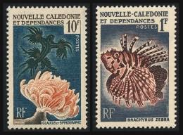 NOUV.-CALEDONIE 1959 - Yv. 291 Et 293 ** SUP  Cote= 5,70 EUR - Coraux Et Poissons (2 Val.) ..Réf.NCE22818 - Neukaledonien