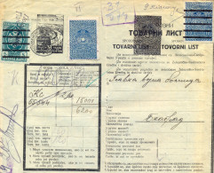 Serbia. II WW. German Ocupation 1943. The Bogovina Brown Coal Mine Waybill To Belgrad. - Serbia