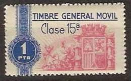 Timbre General Movil 6 ** Corona Mural - Fiscales