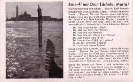 ALTE Lieder- AK  SCHENK Mir DEIN LÄCHELN MARIA / Ca. 1940 Gedruckt - Cartes Postales