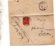1895 LETTERA CON ANNULLO  OTTAGONALE  S. DANIELE RIPA PO CREMONA