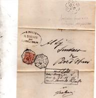 1909 LETTERA  CON ANNULLO  OTTAGONALE  S. DANIELE RIPA PO CREMONA
