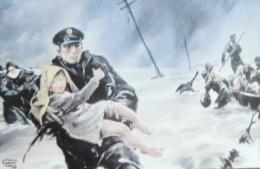 POLIZIA DI STATO ALLUVIONE POLESINE MEDAGLIA ORO ALLA BANDIERA 1951 - Militaria