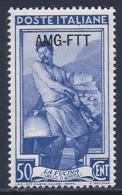 Italy, Trieste Zone A, Scott # 90 Mint Hinged Italy Stamp Overprinted, 1950 - 7. Triest