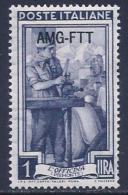 Italy, Trieste Zone A, Scott # 91 Mint Hinged Italy Stamp Overprinted, 1950 - 7. Triest