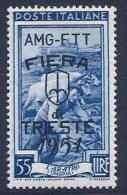 Italy, Trieste Zone A, Scott # 124 Mint Hinged Italy Stamp Overprinted, 1951 - 7. Triest