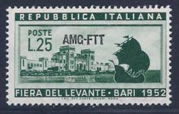 Italy, Trieste Zone A, Scott # 152 Mint Hinged Italy Stamp Overprinted, 1952 - 7. Triest
