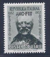 Italy, Trieste Zone A, Scott # 160 Mint Hinged Italy Stamp Overprinted, 1952 - 7. Triest