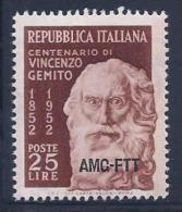 Italy, Trieste Zone A, Scott # 161 Mint Hinged Italy Stamp Overprinted, 1952 - 7. Triest