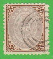 DEN SC #24 1870 Numeral W/sm Tear @UR CNR, CV $275.00 - 1864-04 (Christian IX)