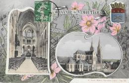 Souvenir De Vimoutiers (Orne) - Multivues (2 Vues) Eglise Notre-Dame + Blason - Edition P. Bunel - Gruss Aus.../ Gruesse Aus...