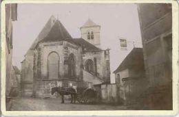 E. Charrier, France, Migé, L'Église Vintage Albumen Print, Carte Cabinet Tirag - Photos