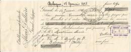 Gand, Belgio, Bologna, 1928, Cambiale Sottoscritta Dal Floricoltore Mario Montanari, Cm. 28 X 11. - 1900 – 1949