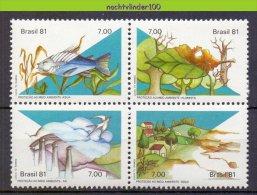 Mwe1801 FAUNA VOGELS VISSEN MILIEUBESCHERMING ENVIRONMENT PROTECTION BIRDS FISH VÖGEL AVES OISEAUX BRASIL 1981 PF/MNH - Milieubescherming & Klimaat