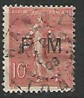 FRANCE FM  N� 4 OBL  CACHET   HANOI TONKIN RR