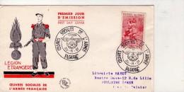 Légion Etrangère-Algérie 1957-FDC Voyagé-voir Cachet - Algeria (1924-1962)