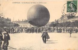 MEURTHE ET MOSELLE  54  LUNEVILLE  AVIATION  LE GONFLEMENT DU BALLON (14 JUILLET 1912)