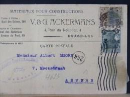 B/4623     CP      CENSURE BRUSSEL - WW I