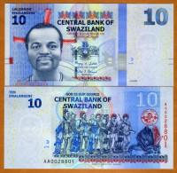 Swaziland 10 Emalangeni 2010 Pick NEW UNC - Swaziland