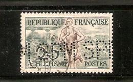 """TIMBRE 961   Oblitération      PERFORE  """" S P M """"      Voir Scan R/V - France"""