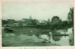 BRAY-sur-SOMME - Au Port - Départ De Pêcheurs - (Vieille Voiture) - - Bray Sur Somme