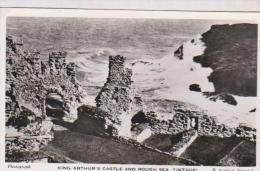 CPM PHOTO , TINTAGEL, KING ARTHUR S CASTLE  AND ROUGH SEA - Scilly Isles
