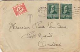 Enveloppe Taxe Bruxelles Courtrai - Belgique
