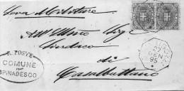 1895  LETTERA CON ANNULLO  OTTAGONALE  CAVATIGOZZI CREMONA