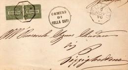 1890   LETTERA CON ANNULLO  OTTAGONALE  CELLA DATI CREMONA